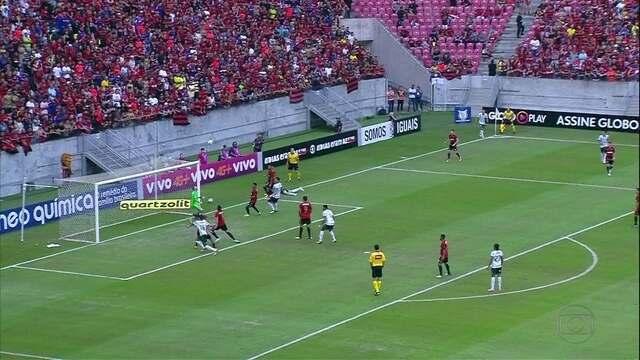 Sport perde para o Palmeiras, mas segue no G-6 da Série A