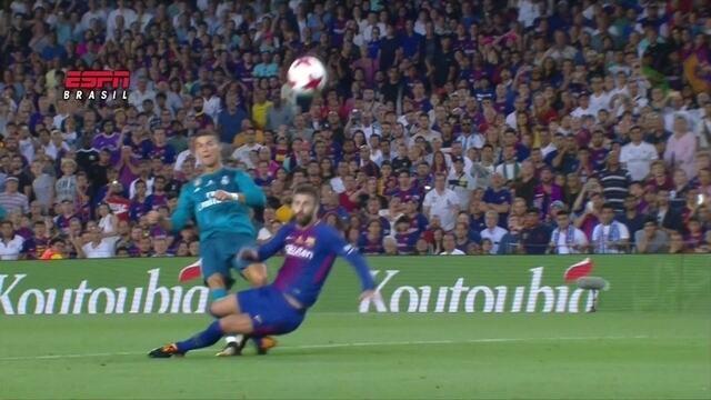 """CR7 maca um golaço sobre o Barça, é expulso e leva """"pintura"""" internacional"""