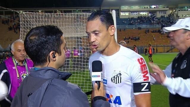 Ricardo Oliveira fala sobre empate com Vitória, mas não comenta as vaias da torcida