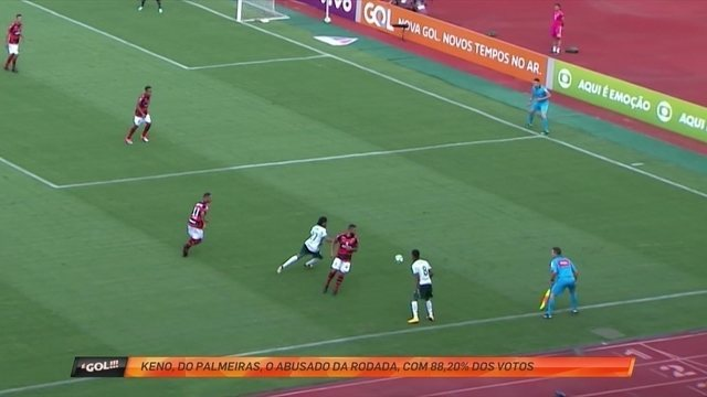 "Keno, do Palmeiras, dá show de habilidade e é o ""abusado"" da rodada"
