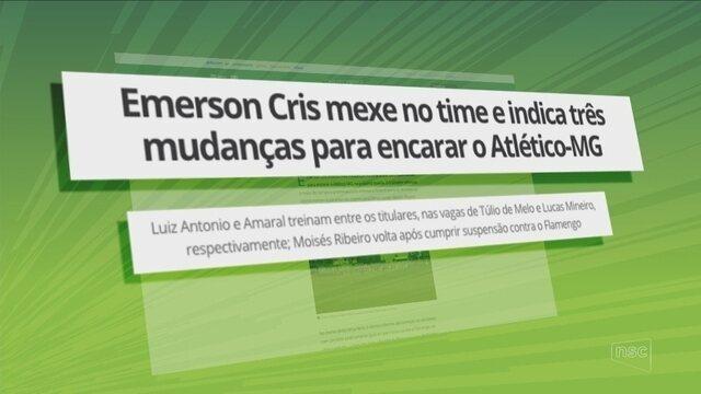 Sob olhares do novo técnico, Chapecoense visita o Atlético-MG com mudanças
