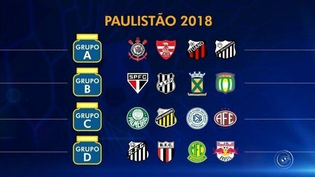 Sorteio: veja como ficaram os grupos do Campeonato Paulista de 2018