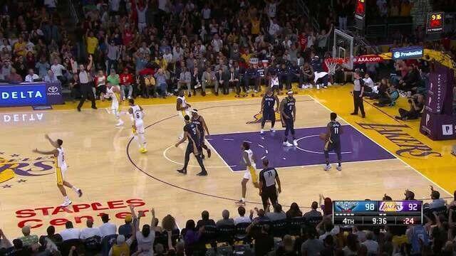 Melhores momentos de New Orleans Pelicans 119 x 112 Los Angeles Lakers pela NBA