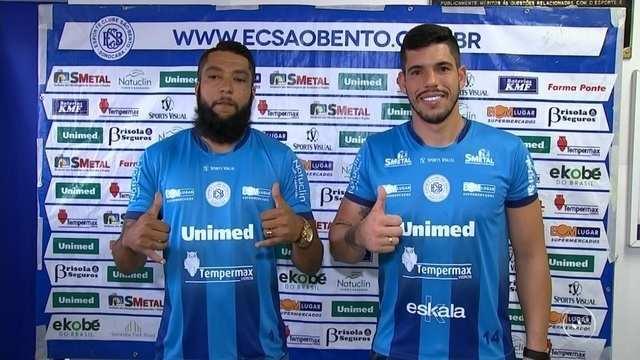 São Bento apresenta goleiros Henal e Cleber Alves
