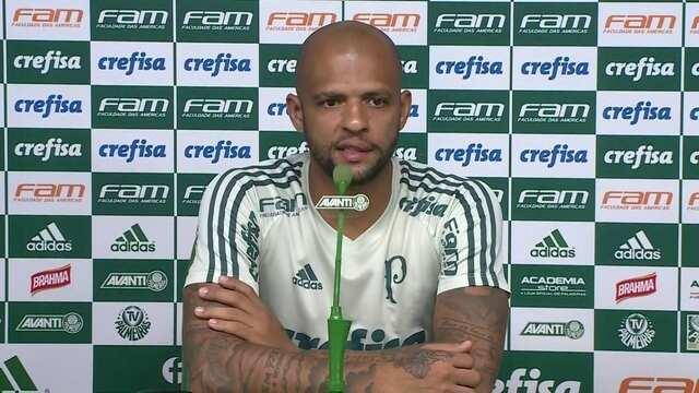 """Felipe Melo, sobre cobrança da torcida: """"Não temos de absorver a pressão de vencer tudo"""""""