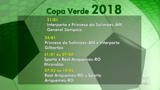 Veja como ficaram os confrontos para a Copa Verde 2018