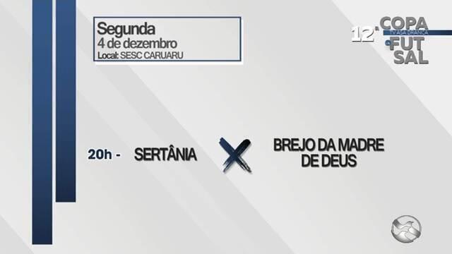 Duas partidas movimentam Copa TV AB nesta segunda-feira (4) em Caruaru