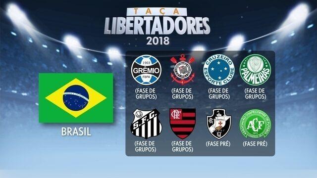 Confira quais são os clubes já classificados para a Libertadores 2018