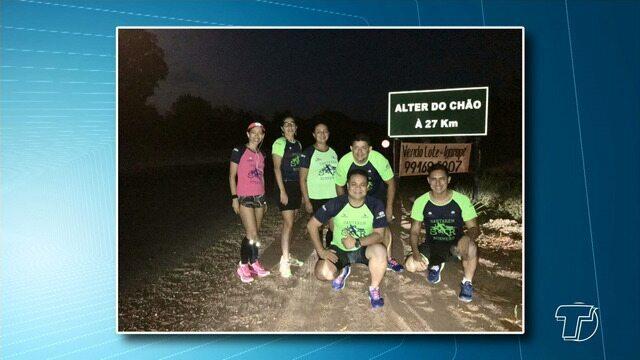 Grupo 'Santarém Runners' corre percurso de mais de 28 km até a vila de Alter do Chão