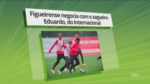 Mercado da bola: Figueirense negocia com o zagueiro Eduardo, do Internacional