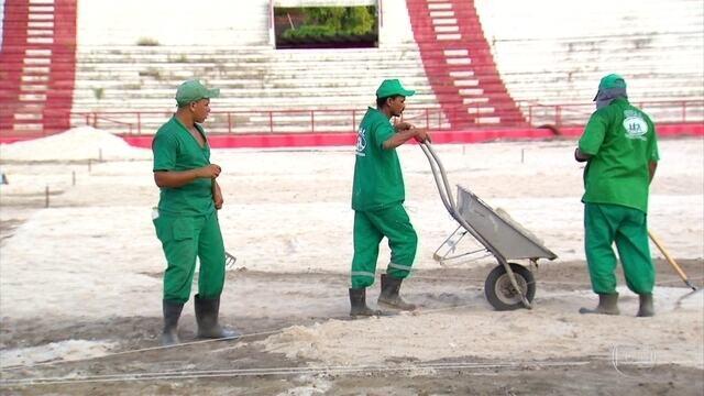 Nossa equipe do visitou os Aflitos e viu como estão as obra no estádio Timbu