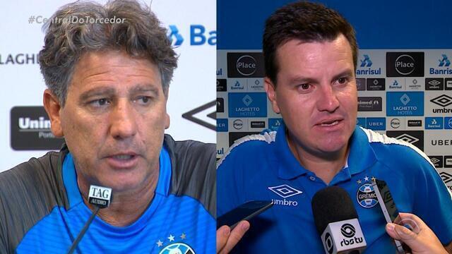 Torcida pode apostar em dois Grêmios com técnicos com semelhanças