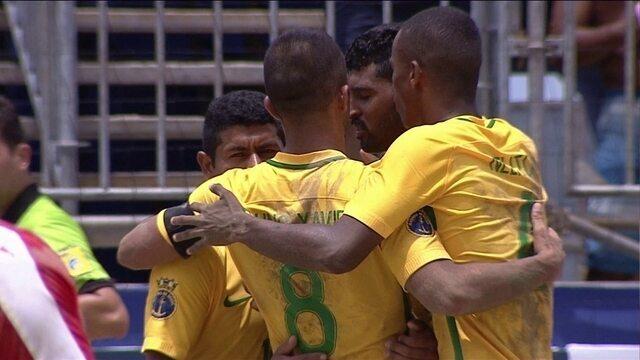 Os gols de Brasil 11 x 4 Suíça pelo Desafio Internacional de Futebol de Areia