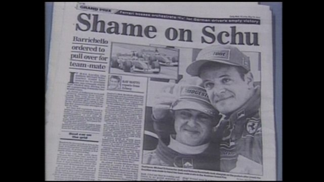 Em 2002, Rubinho entrega pole position para Schumacher mo GP da Áustria