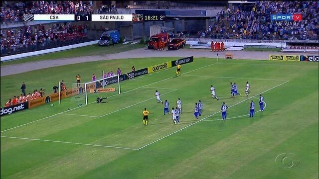 Em casa, CSA é derrotado pelo São Paulo