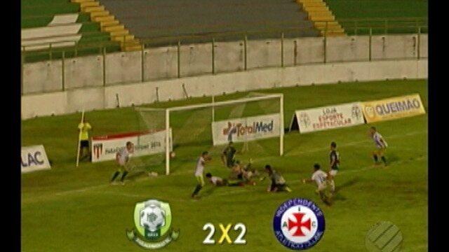 Veja os gols de Paragominas 2 x 2 Independente Tucuruí