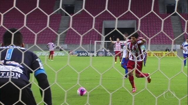 Ortigoza faz a diferença na estreia, e Náutico vence Afogados na Arena de PE, por 2 a 1