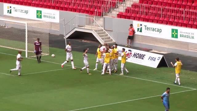 O gol de Brasiliense 1 x 0 Bolamense pelo Campeonato Brasiliense