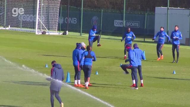 Neymar não aparece no treino do PSG durante tempo aberto para a imprensa