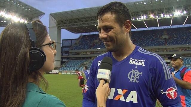 """Diego Alves: """"Não podemos dar essa imagem até mesmo pela partida do 1º tempo"""""""
