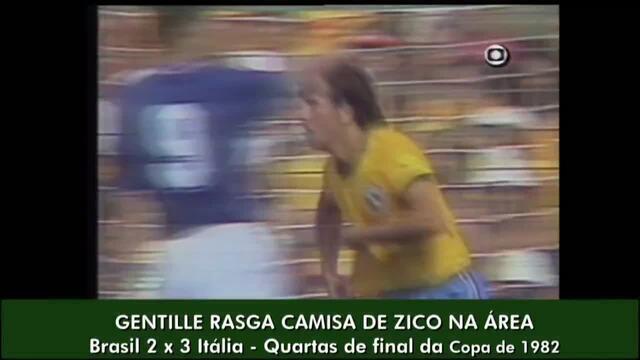 Erros de arbitragem: Zico tem camisa rasgada por italiano, mas pênalti não é marcado em 82