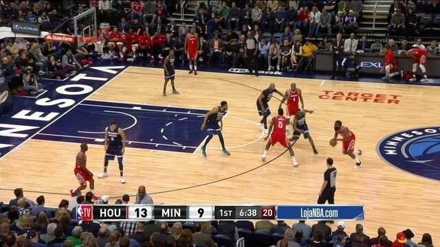 Melhores momentos: Houston Rockets 129 x 120 Minnesota Timberwolves pela NBA