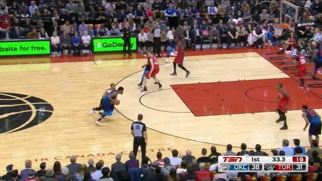 Melhores momentos: Oklahoma City Thunder 132 x 125 Toronto Raptors pela NBA