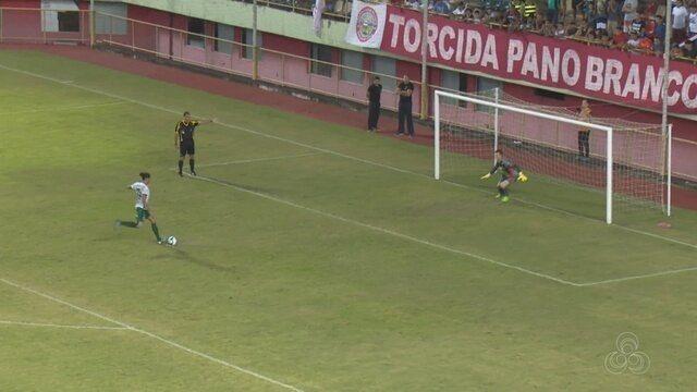 Nos pênaltis, Manaus bate Rio Branco fora de casa e avança na Copa Verde