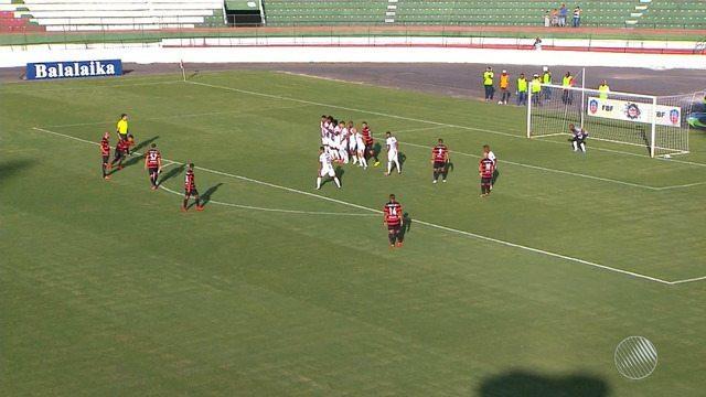 Vitória empata com Bahia de Feira, na primeira partida da semifinal do Baianão 2018
