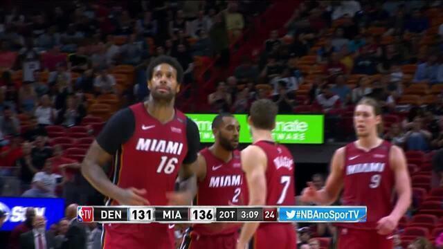 Melhores momentos: Miami Heat 149 x 141 Denver Nuggets pela NBA