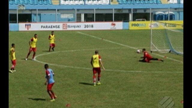 Paysandu treina na manhã desta terça-feira no Estádio Curuzu