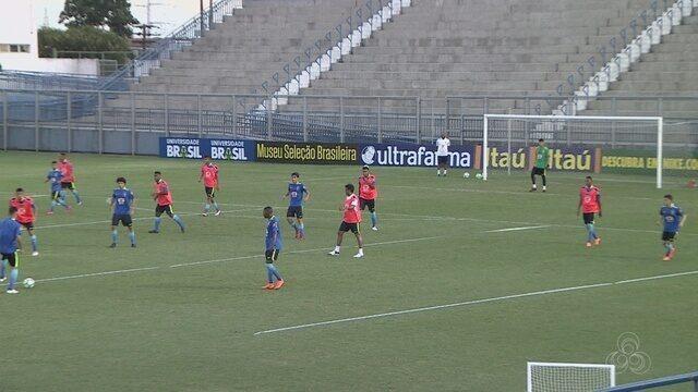 Pela primeira vez com grupo completo, seleção brasileira sub-20 treina no CT da Colina