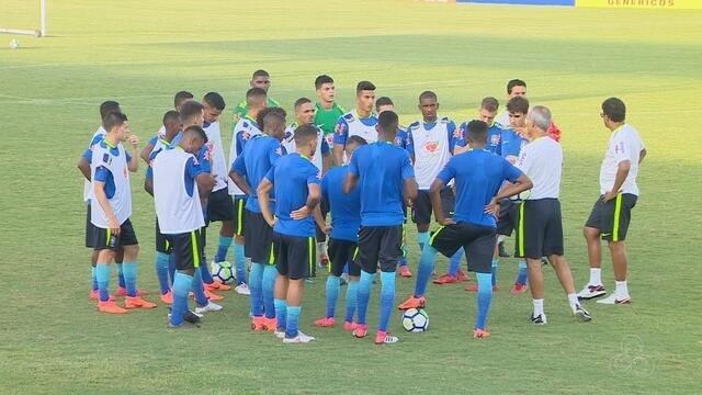 Seleção sub-20 faz segundo treino de olho no amistoso contra o México