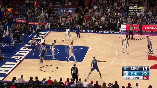 Melhores momentos: Memphis Grizzlies 105 x 119 Philadelphia 76ers pela NBA