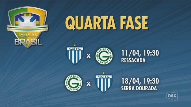 CBF divulga datas do confronto entre Avaí e Goiás pela Copa do Brasil