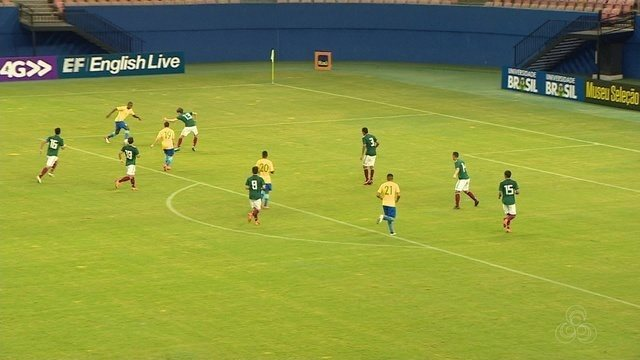 Brasil em México empatam em 1 a 1, em jogo-treino na Arena da Amazônia