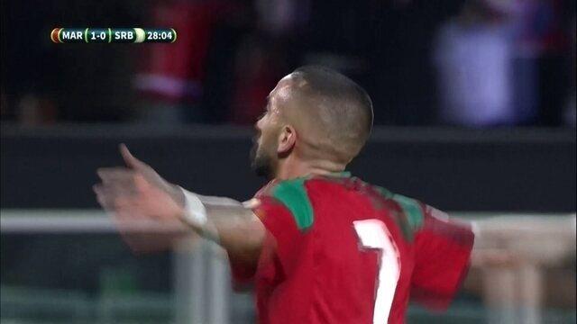 Os gols de Sérvia 1 x 2 Marrocos em amistoso internacional