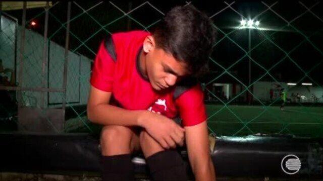 Destaque no sub-11, Caio desperta interesse do Flamengo e viaja ao Rio para testes