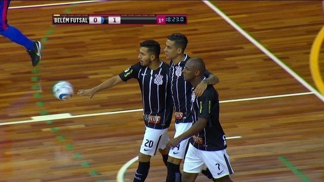 Os gols de Belém Futsal 2 x 5 Corinthians pela Liga Nacional de Futsal