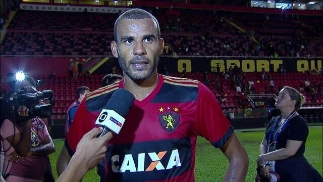 Ernando comenta empate do Sport com o Botafogo