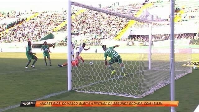 Gol de Andrés Rios, do Vasco é a pintura da rodada do Brasileirão no É Gol!!!