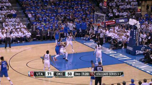 Melhores momentos de Oklahoma City Thunder 107 x 99 Utah Jazz pela NBA