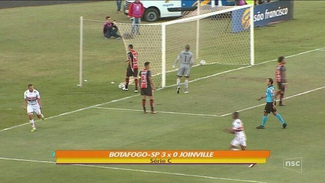 Em estreia de Márcio Fernandes, Joinville perde para o Botafogo e segue na lanterna
