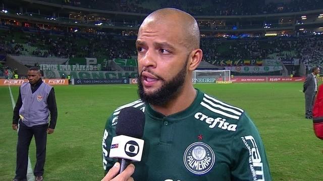 "Felipe Melo lamenta derrota do Palmeiras para o Sport: ""Todo mundo chateado"""