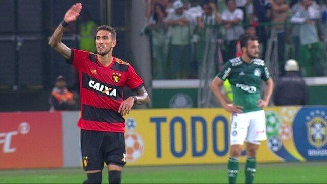 Os gols de Palmeiras 2 x 3 Sport pela 7ª rodada do Campeonato Brasileiro