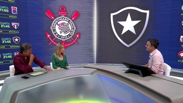 Comentaristas analisam confronto Corinthians x Botafogo pela 13ª rodada do Brasileirão
