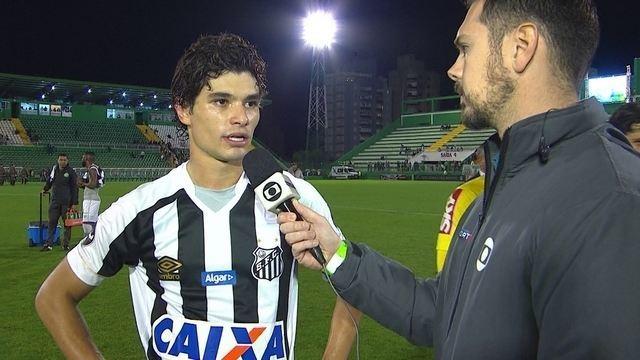 Dodô comenta empate do Santos com a Chapecoense