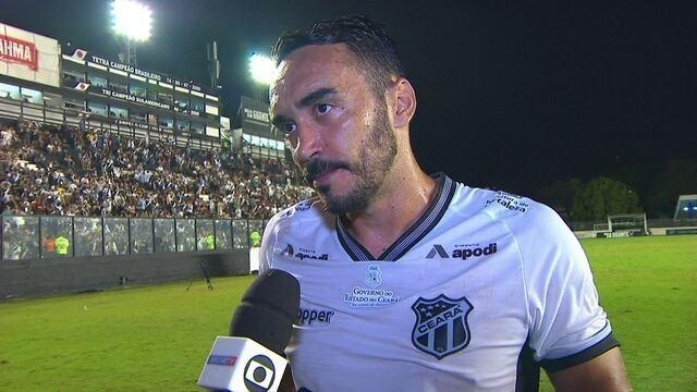 Autor do gol de empate, Tiago Alves exalta resultado fora de casa