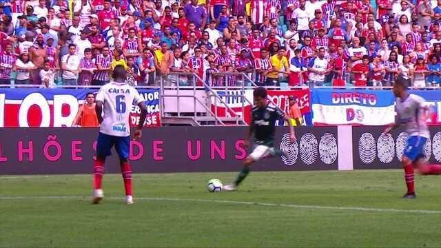 Melhores momentos: Bahia 1 x 1 Palmeiras pela 25ª rodada do Brasileirão