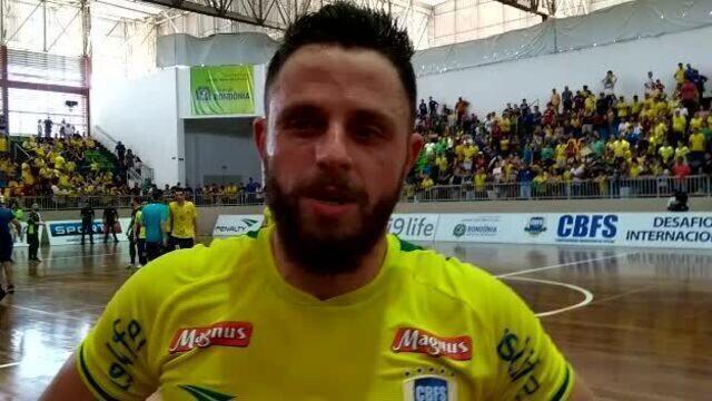 'A gente fez um bom jogo' diz Rodrigo após jogo contra Argentina pelo Desafio das Américas